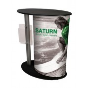 Expo Counter with Brochure Holder
