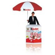 Promo Desk with Parasol Umbrella