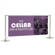 Medio Cafe Chrome Banner 1.2 metre